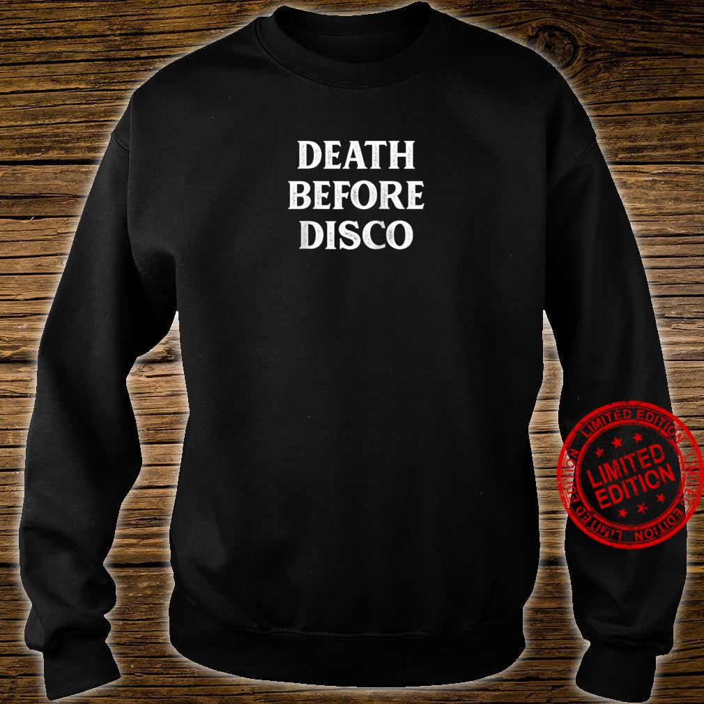 Death Before Disco Vintage Style Shirt